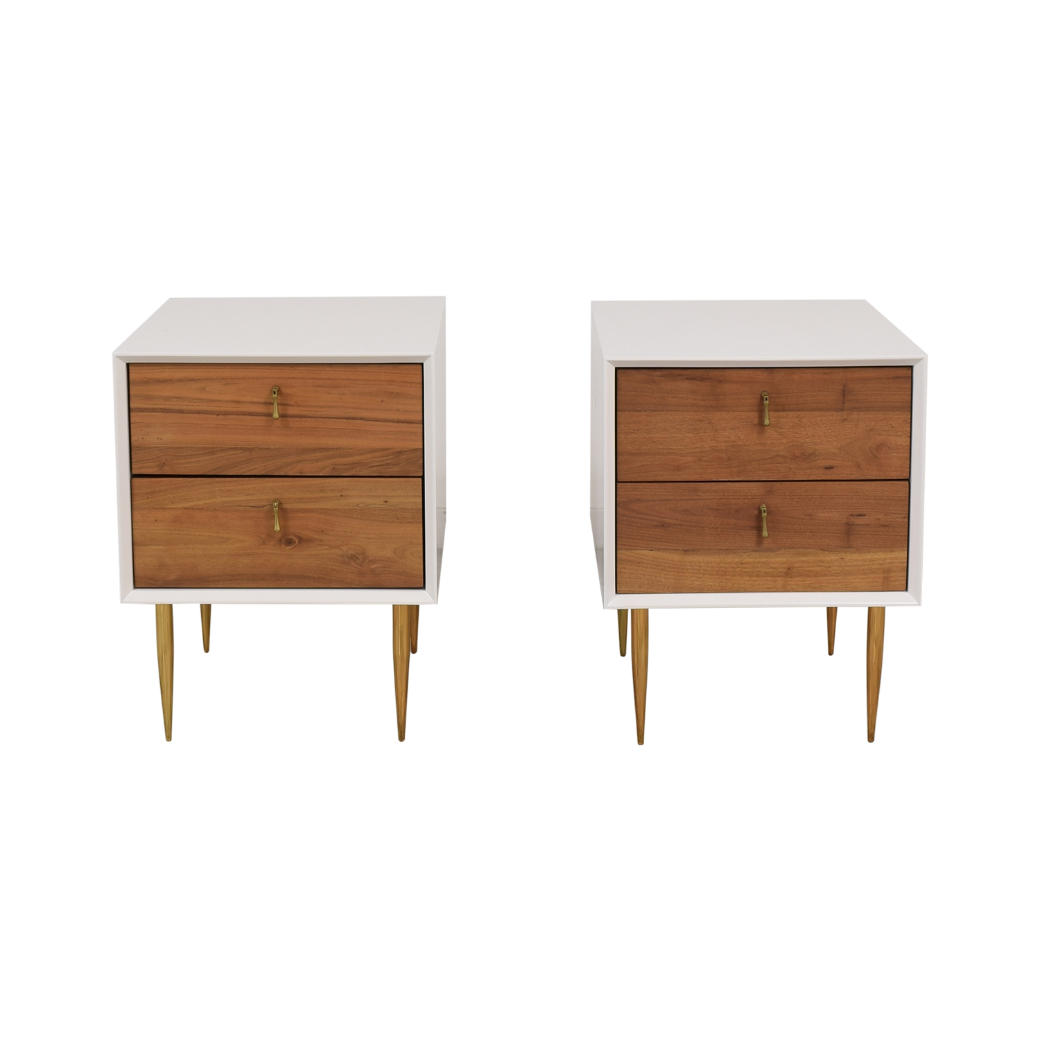 Organic Modernism Organic Modernism Two Drawer Bedside Tables nj