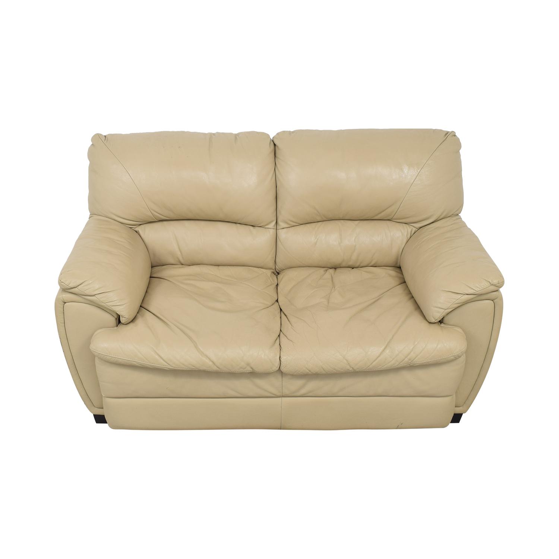 Two Cushion Love Seat tan