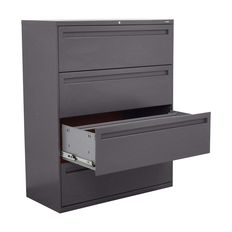shop Hon 4-Drawer Lateral Filing Cabinet Hon Filing & Bins