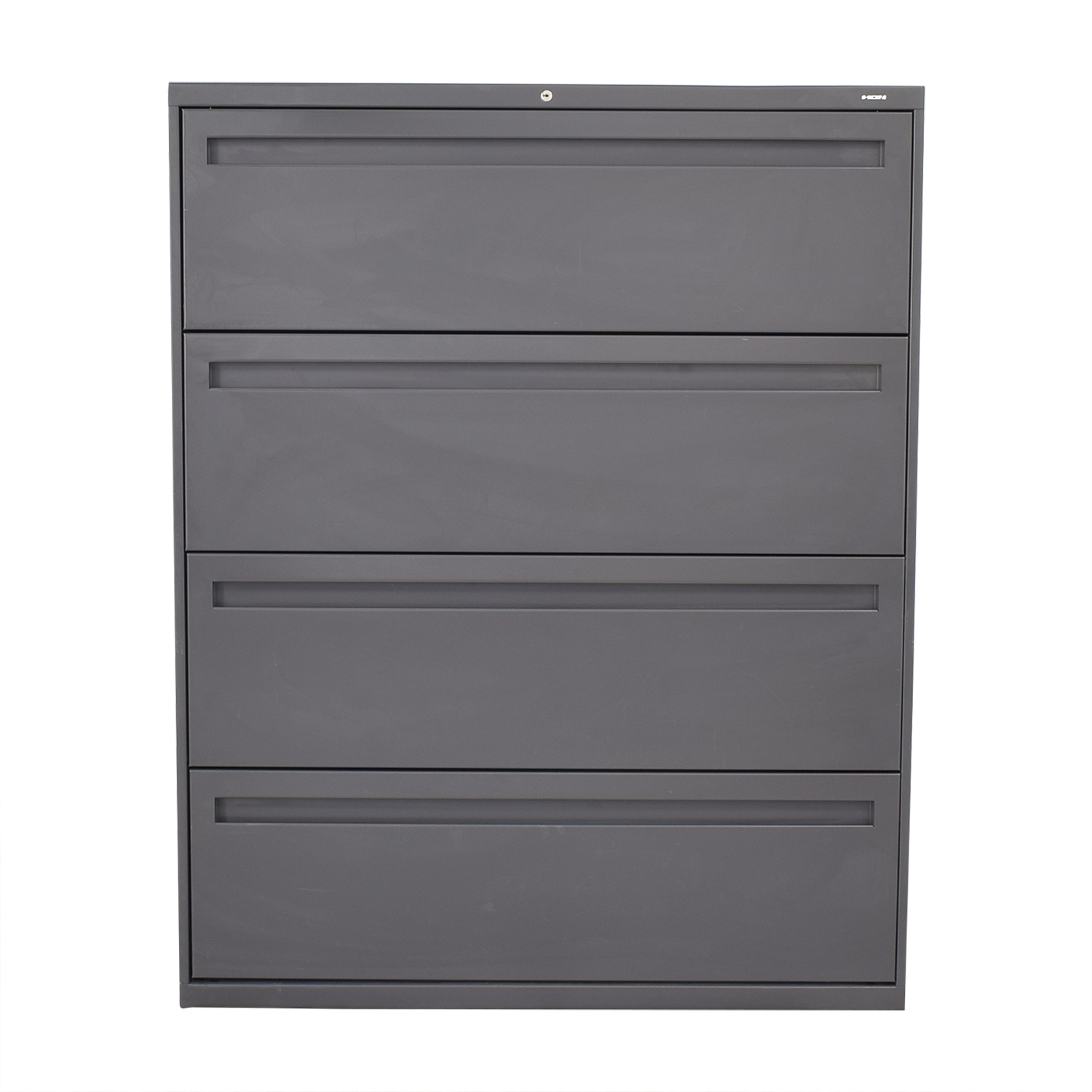 Hon Hon 4-Drawer Lateral Filing Cabinet grey