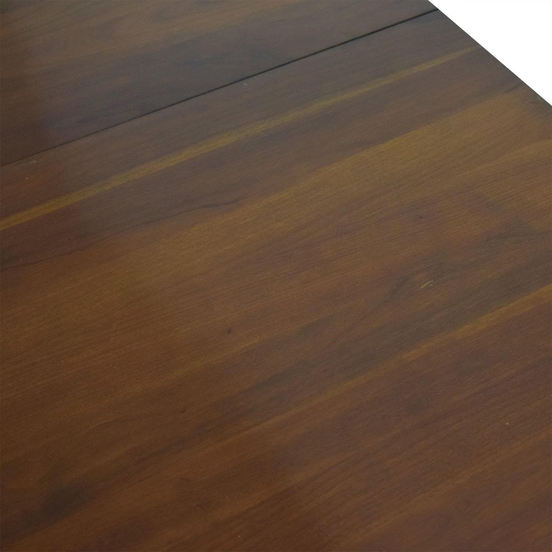 Willett Furniture Willett Transitional Cherry Collection Mid-Century Modern Solid Cherry Dining Table dark brown