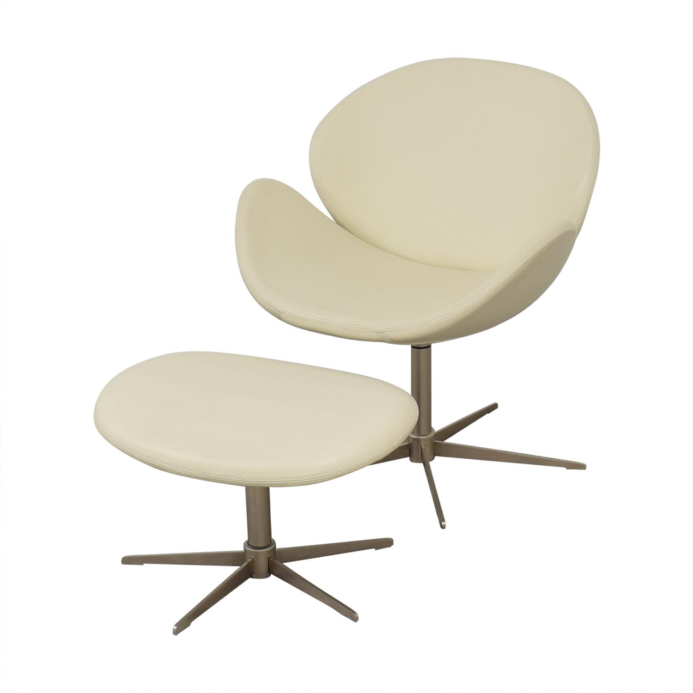 BoConcept BoConcept OGI Chair with Footstool nyc