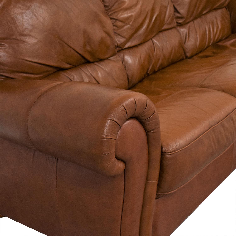 Jordan's Furniture Jordan's Furniture Roll Arm Leather Sofa used