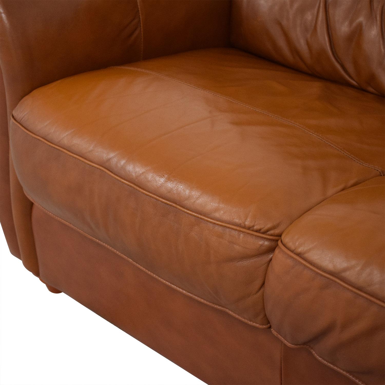 Jordan's Furniture Jordan's Furniture Roll Arm Leather Sofa Sofas