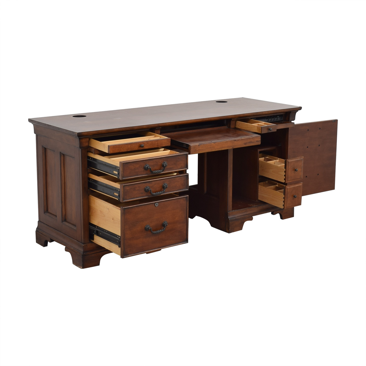 North Carolina Furniture Company Double Pedestal Locking Executive Desk for sale