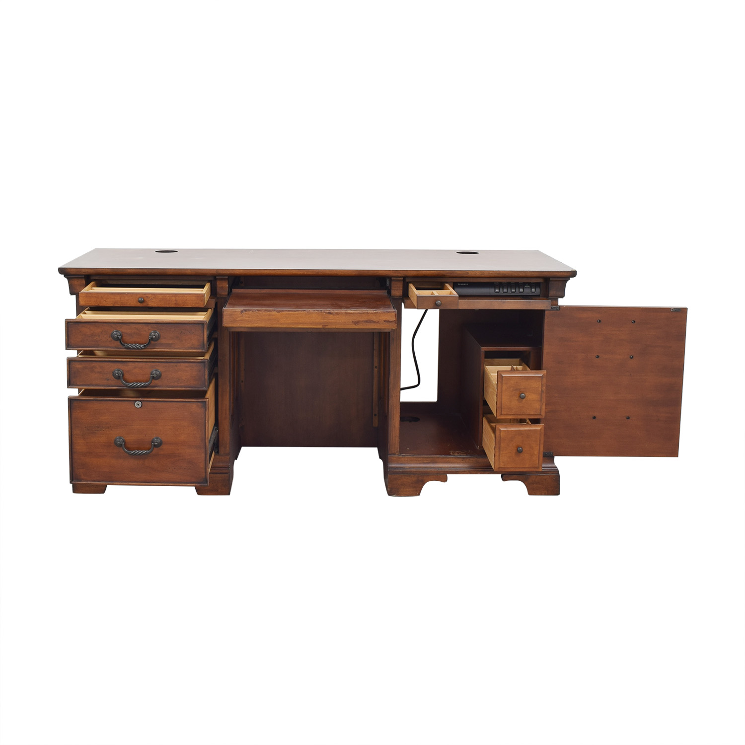 shop Double Pedestal Locking Executive Desk North Carolina Furniture Company Home Office Desks