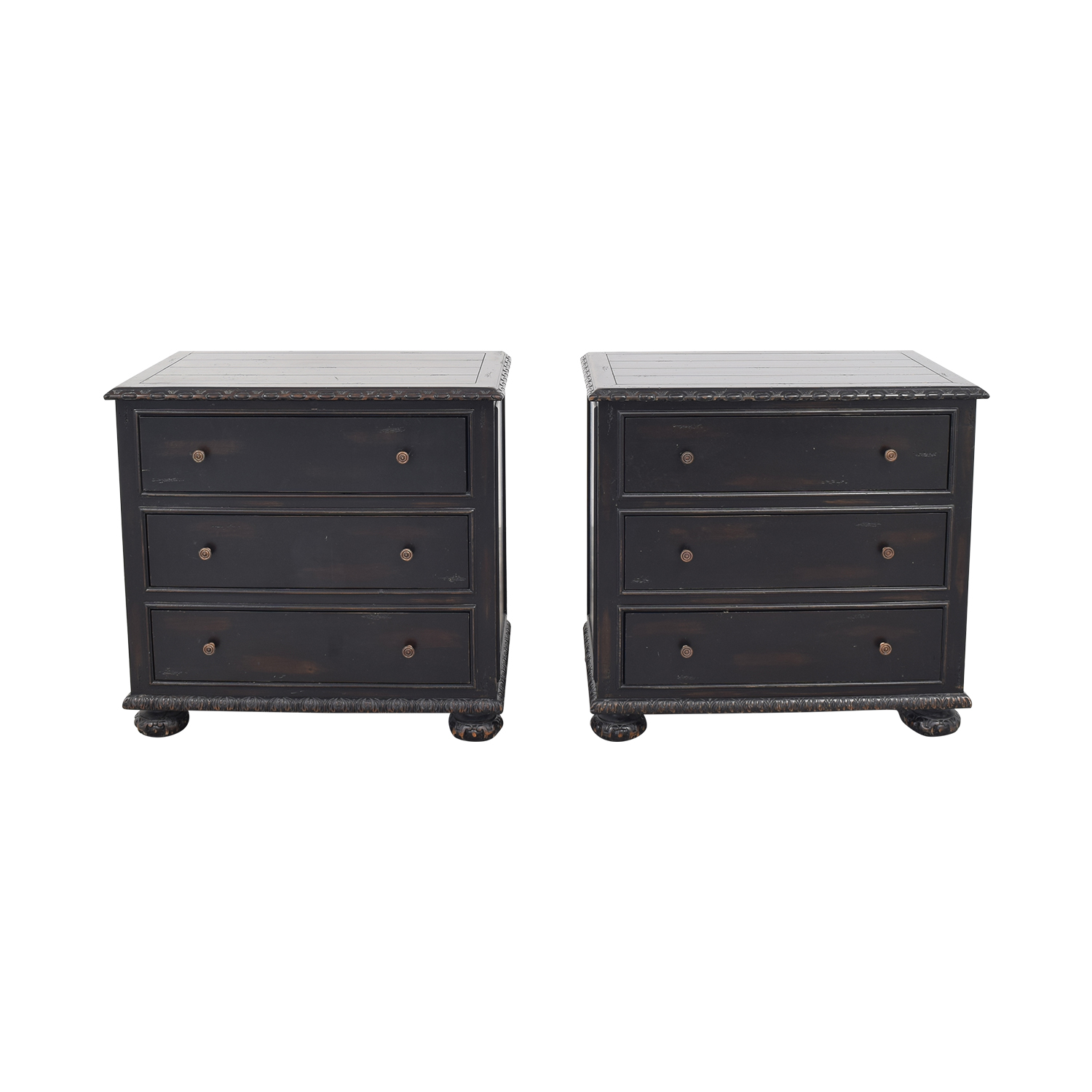 Restoration Hardware French Empire Closed Nightstands / End Tables