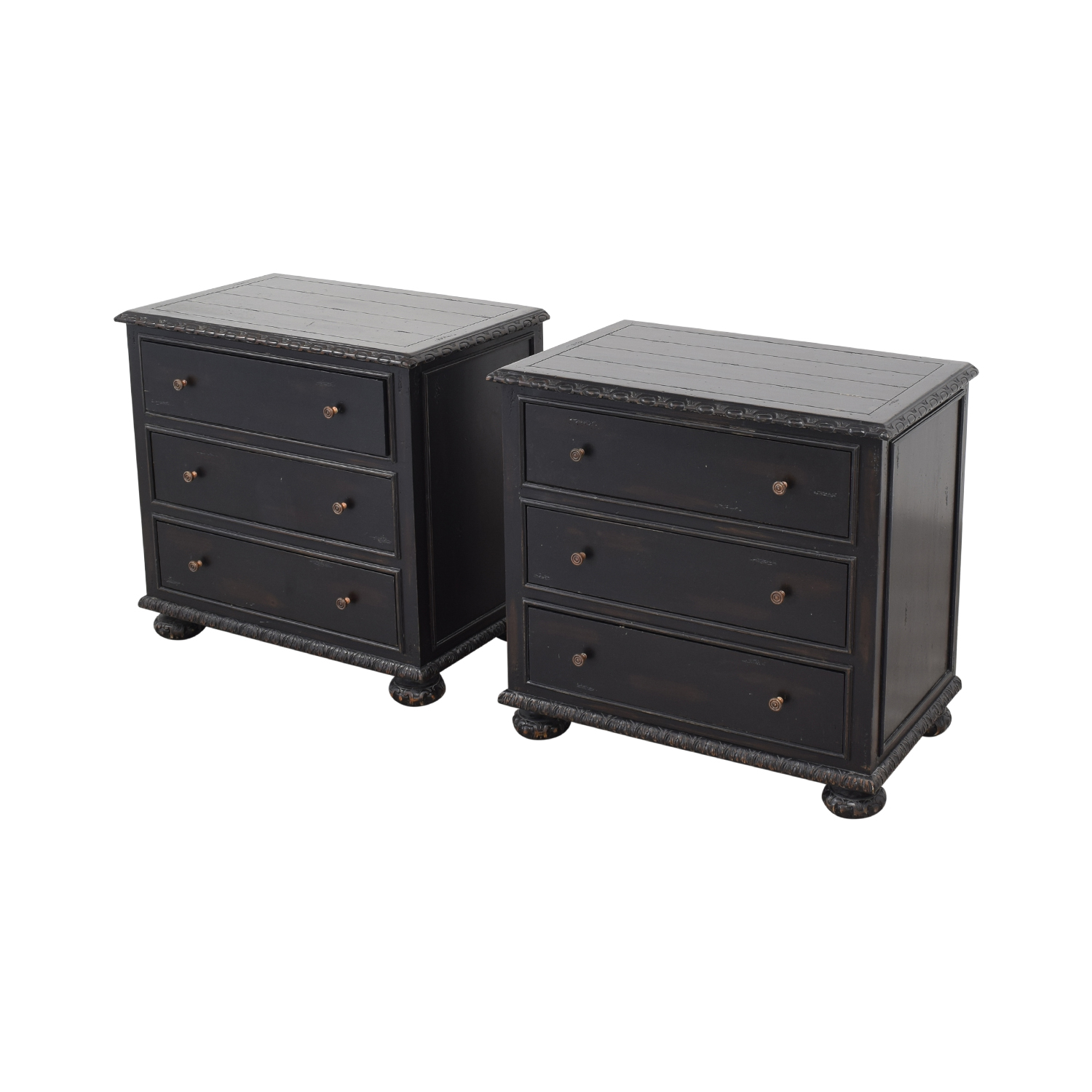 Restoration Hardware Restoration Hardware French Empire Closed Nightstands nyc