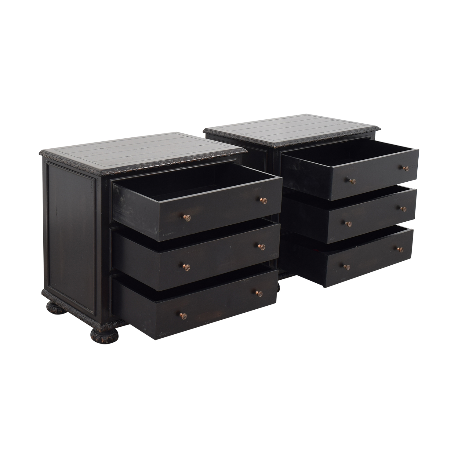 Restoration Hardware Restoration Hardware French Empire Closed Nightstands ct