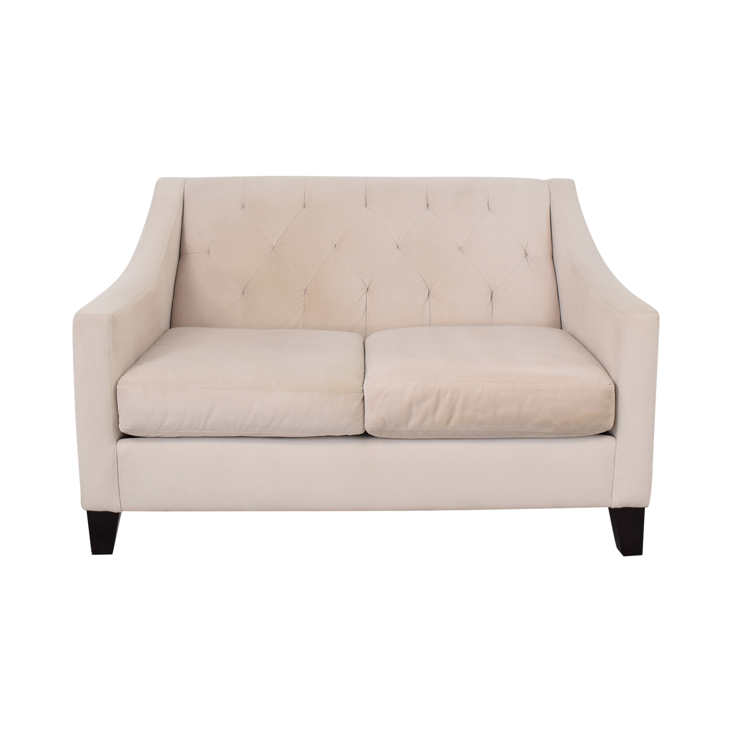 Macy's Cream Loveseat sale