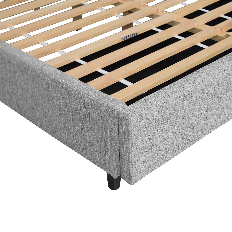 West Elm West Elm Contemporary Upholstered Storage Bed Queen nj