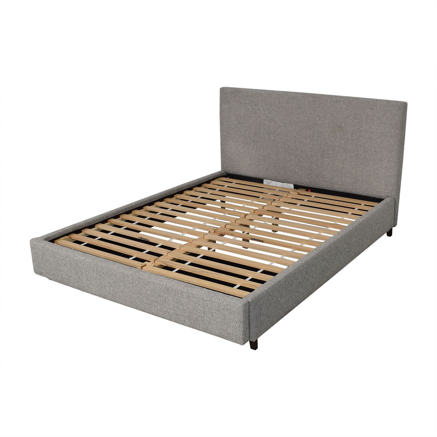 West Elm West Elm Contemporary Upholstered Storage Bed Queen dimensions