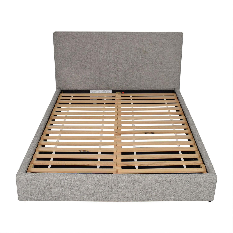 buy West Elm Contemporary Upholstered Storage Bed Queen West Elm Beds