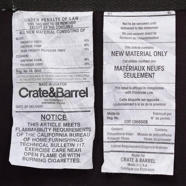 Crate & Barrel Crate & Barrel Petrie Mid Century Apartment Sofa
