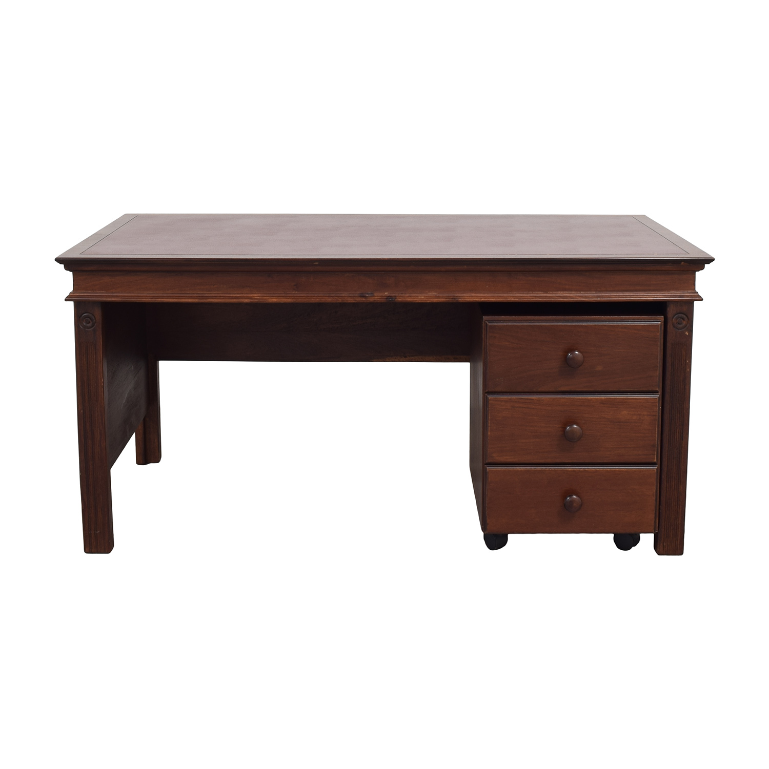 shop Inlay Desk with Rolling Cabinet  Tables