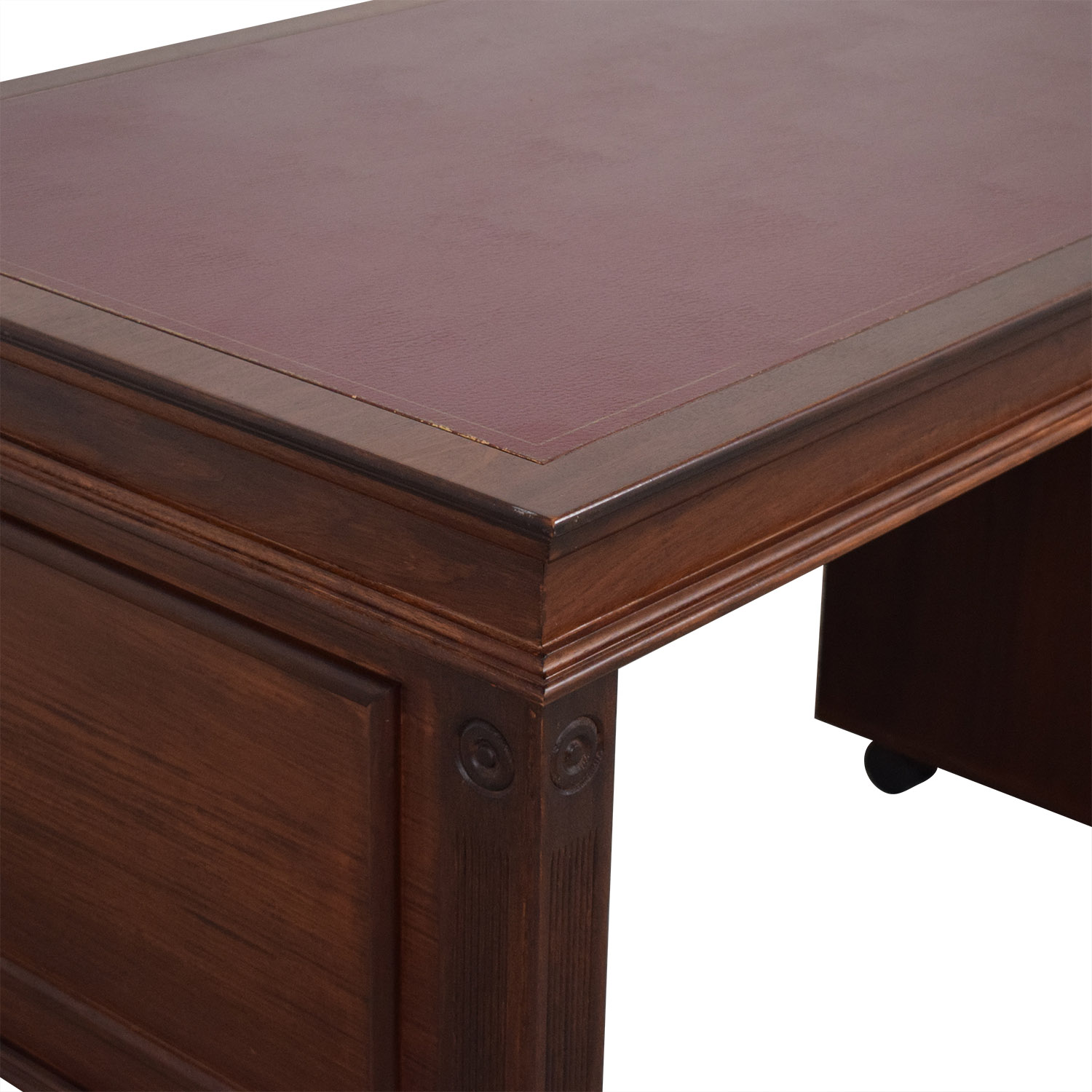 Inlay Desk with Rolling Cabinet pa