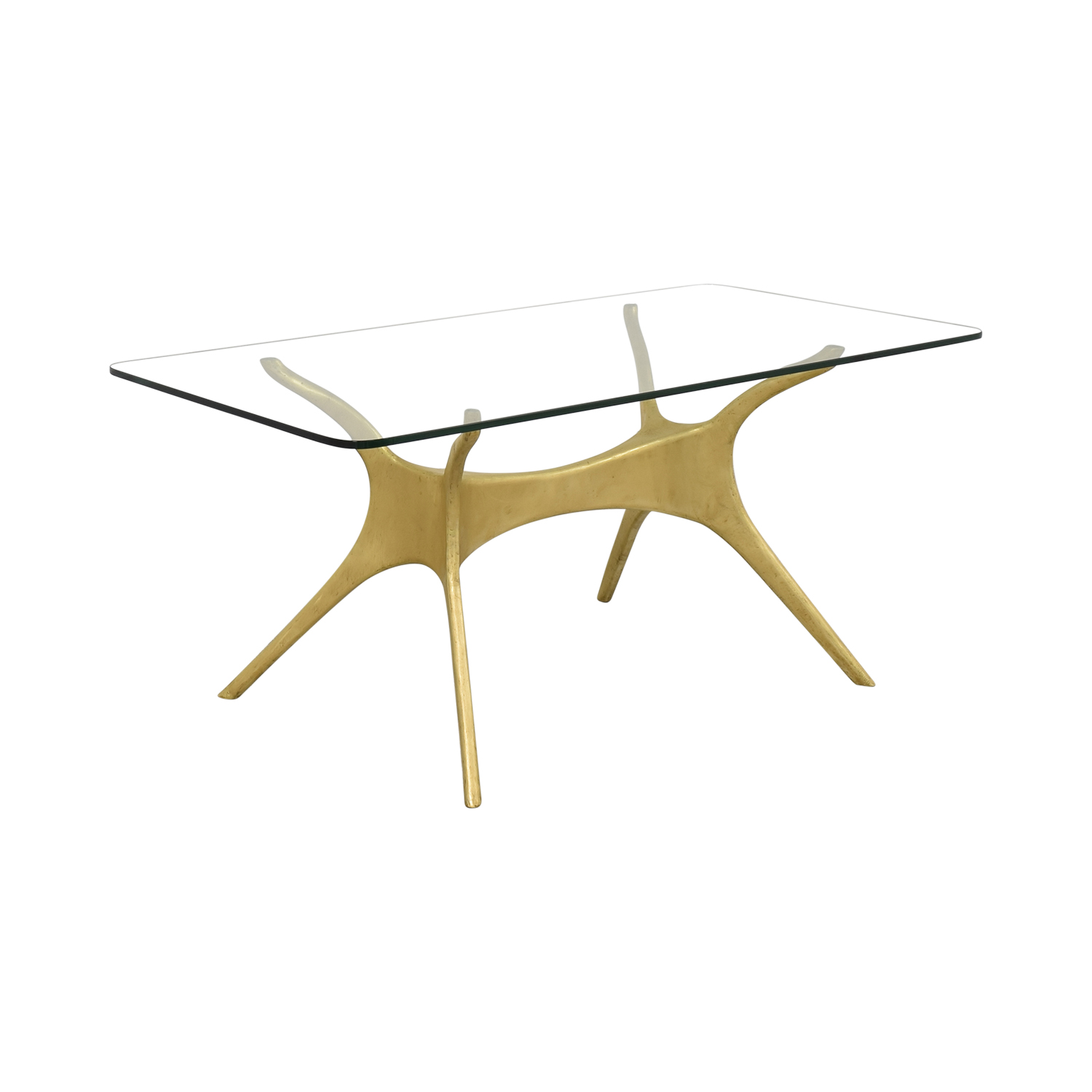 Organic Modernism Organic Modernism Okto A Brass Base Dining Table Dinner Tables
