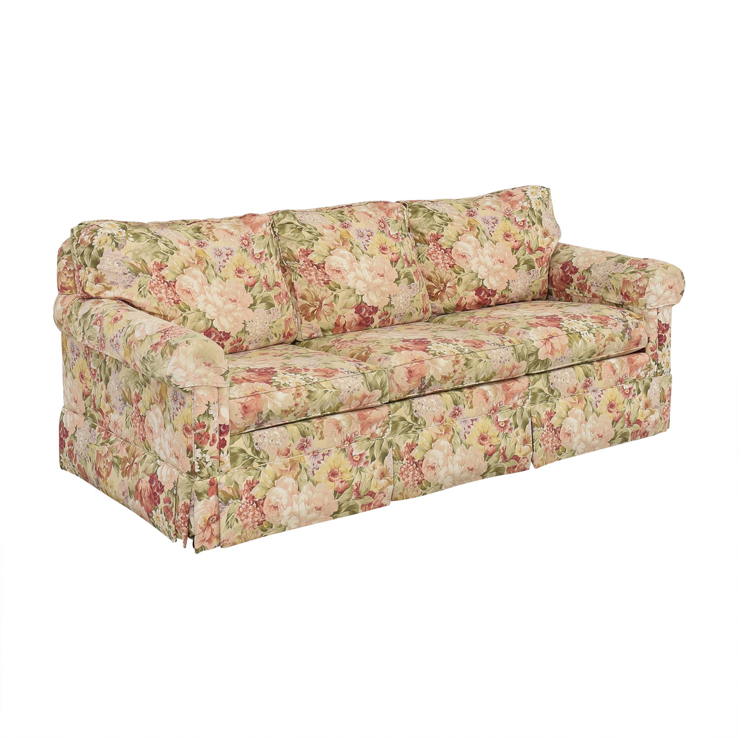 Ethan Allen Ethan Allen Floral Slipcovered Sofa pa