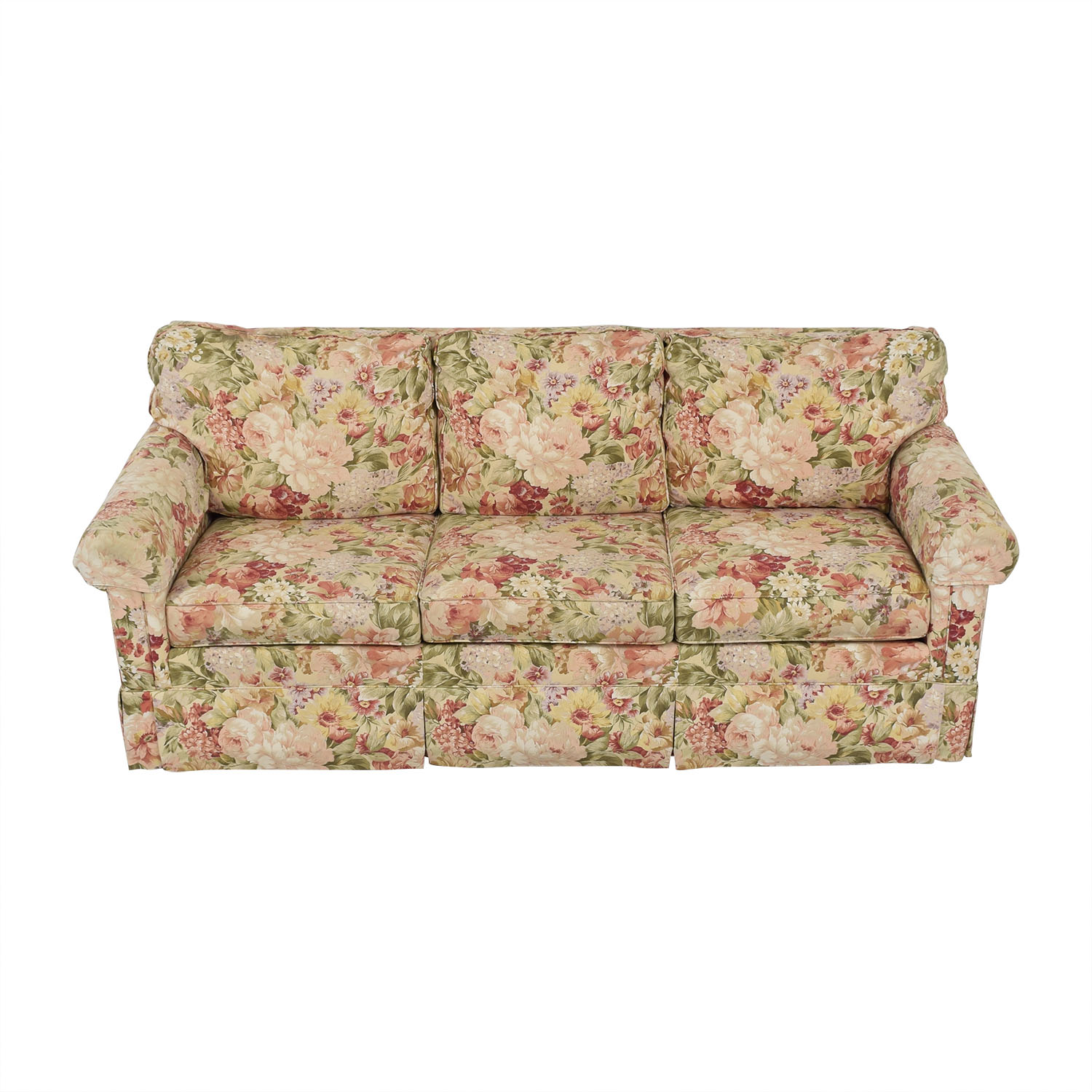 Ethan Allen Ethan Allen Floral Slipcovered Sofa dimensions