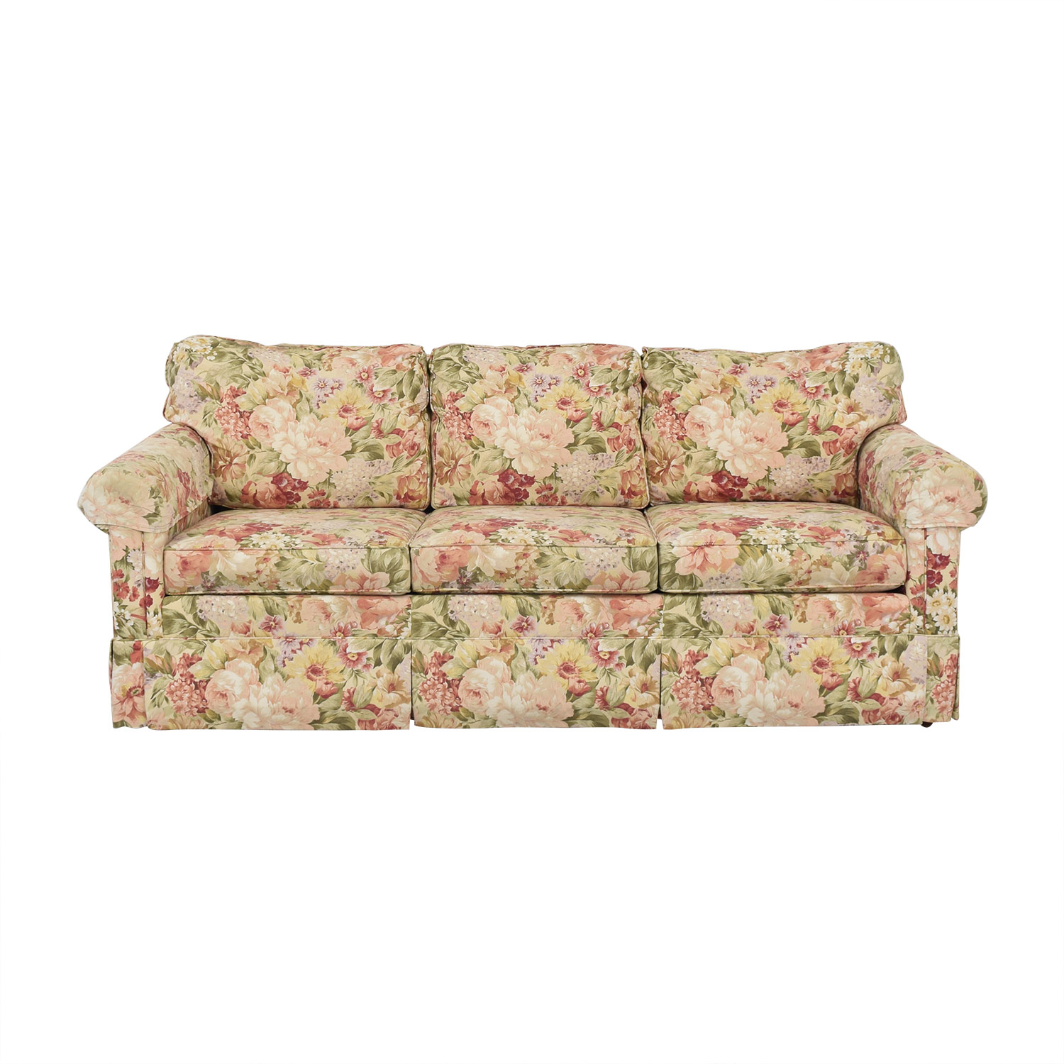 Ethan Allen Ethan Allen Floral Slipcovered Sofa ma
