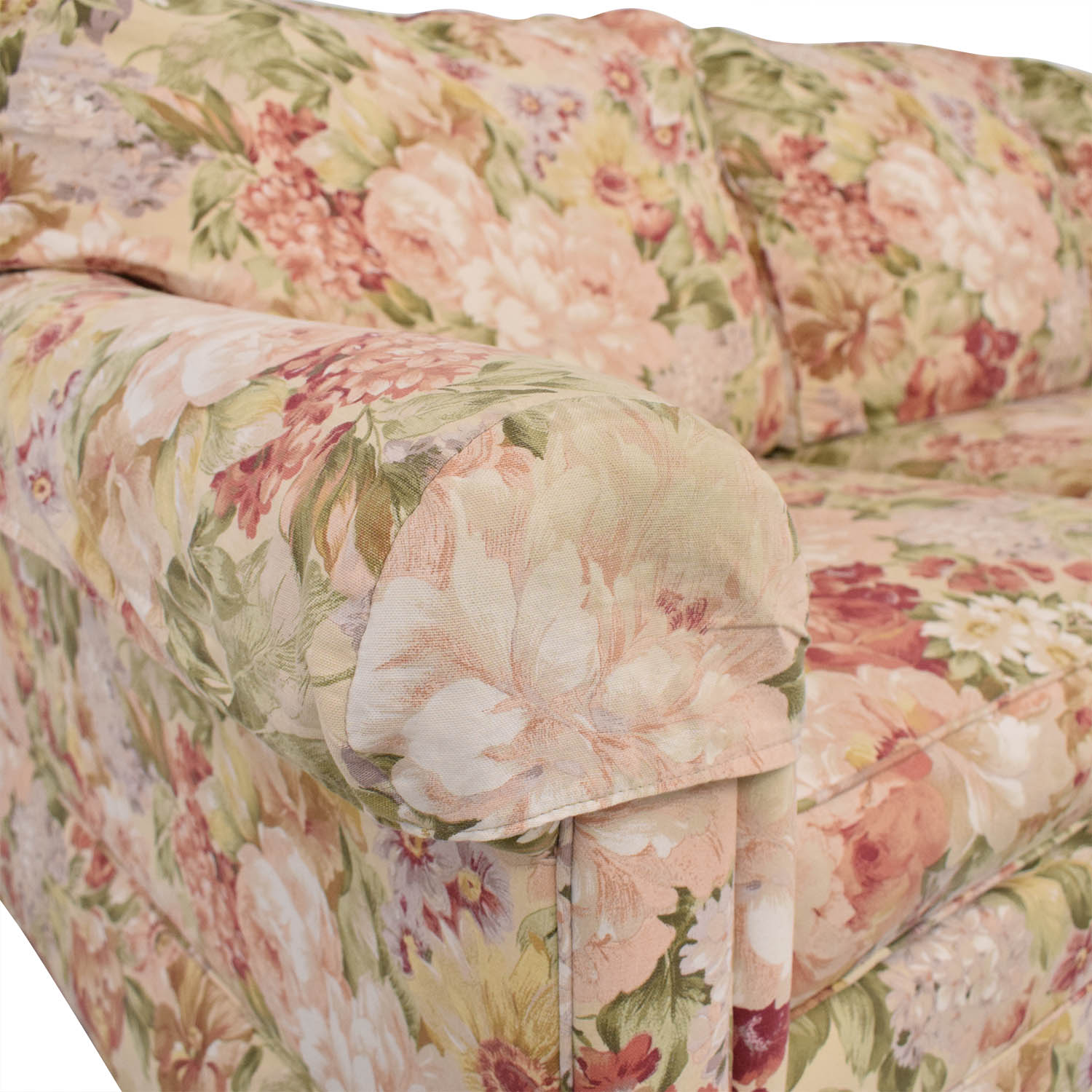 Ethan Allen Ethan Allen Floral Slipcovered Sofa Classic Sofas