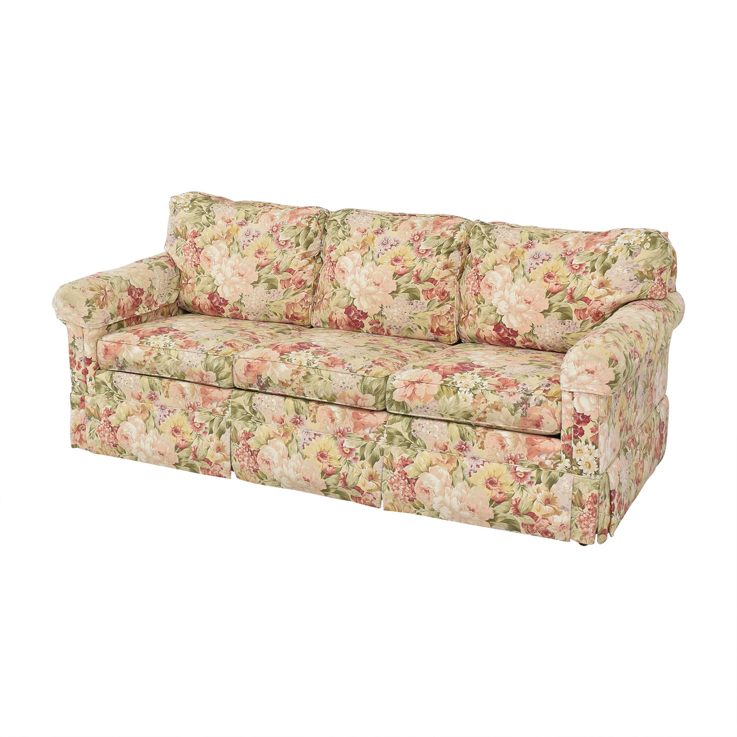 Enjoyable 65 Off Ethan Allen Ethan Allen Floral Slipcovered Sofa Sofas Pabps2019 Chair Design Images Pabps2019Com