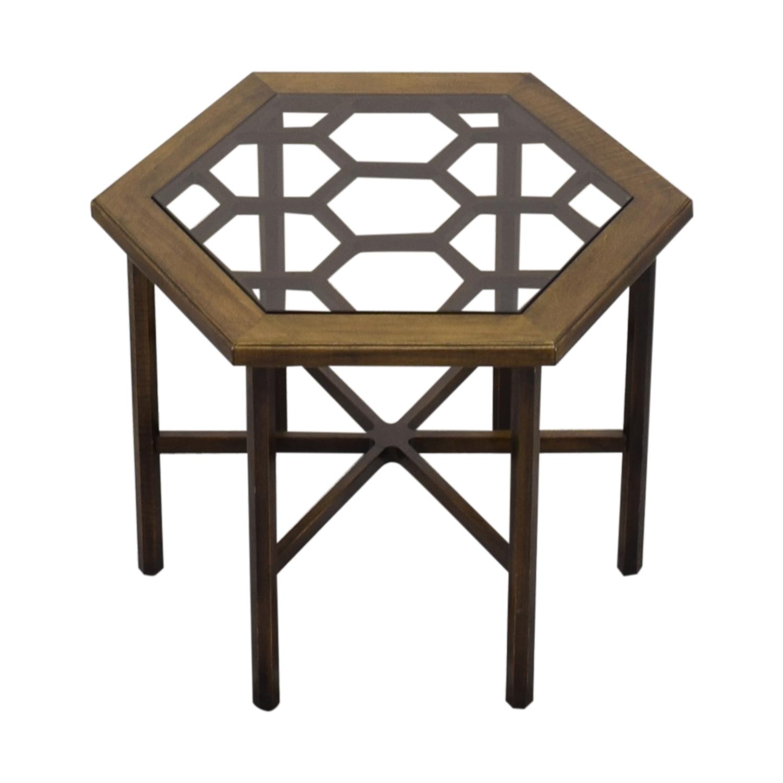 shop John Widdicomb Hexagonal Side Table John Widdicomb Co. Tables