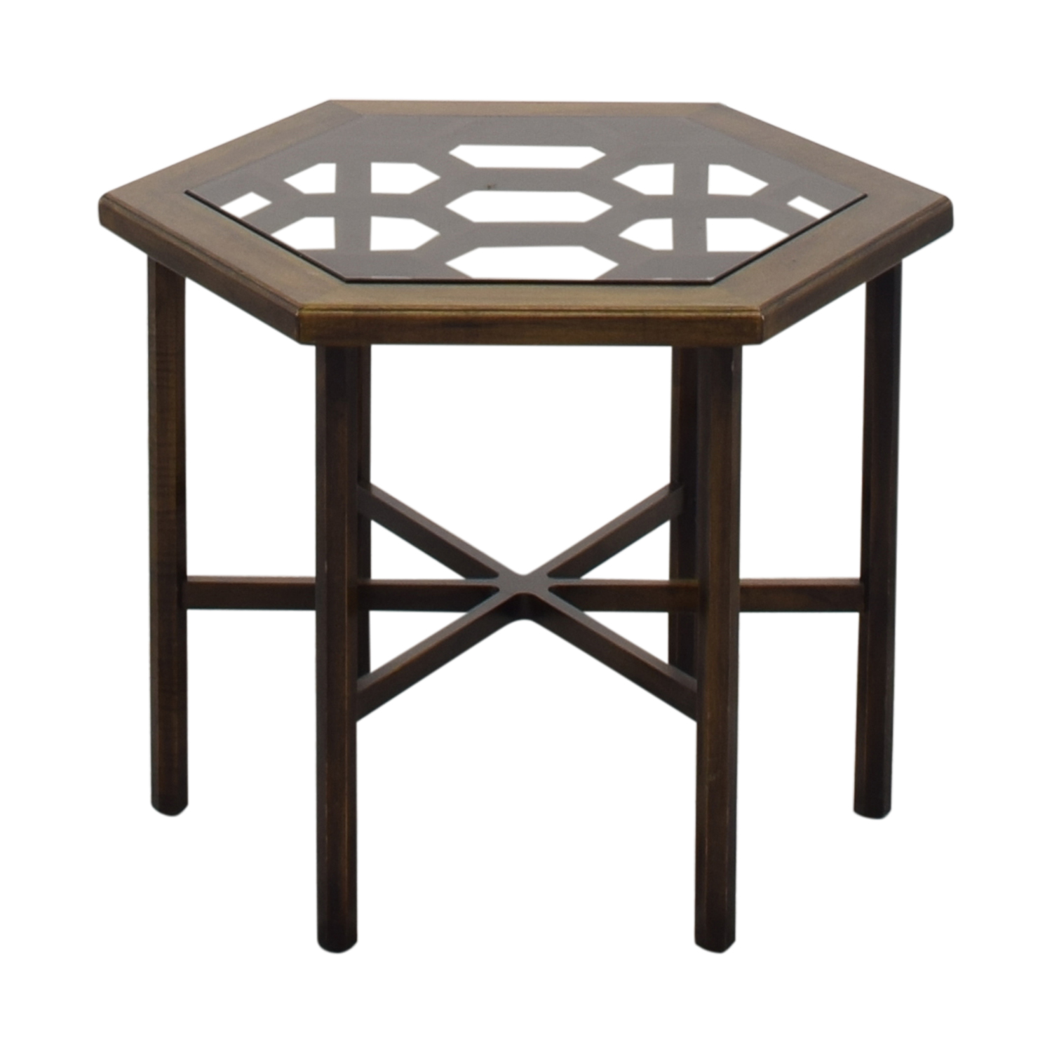 John Widdicomb Co. John Widdicomb Hexagonal Side Table ct