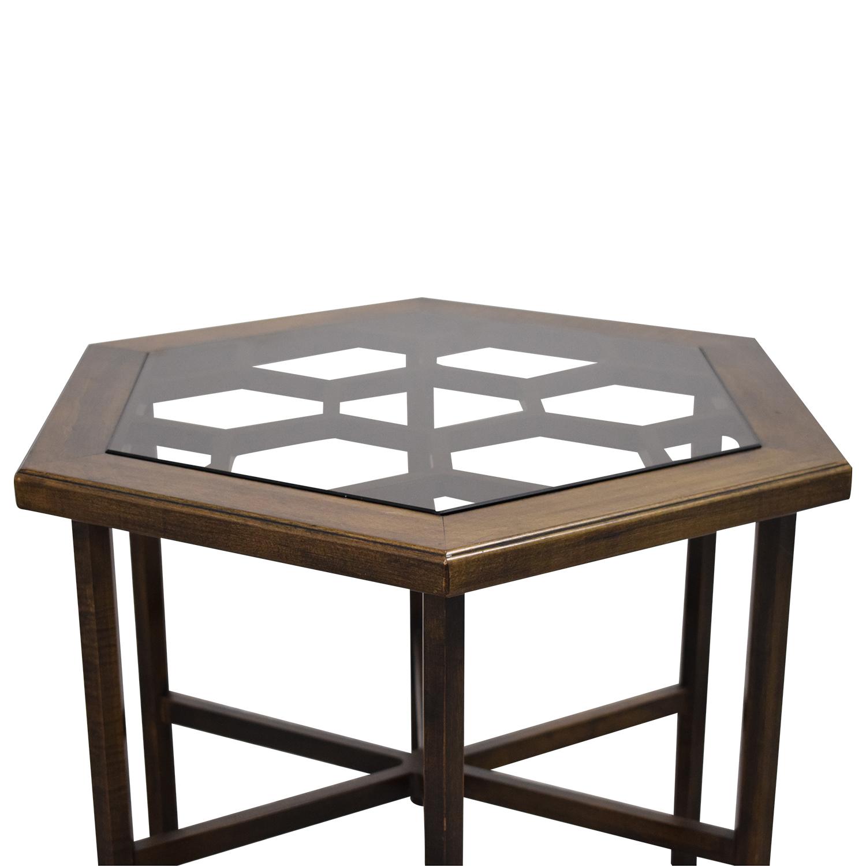 buy John Widdicomb Hexagonal Side Table John Widdicomb Co. Tables