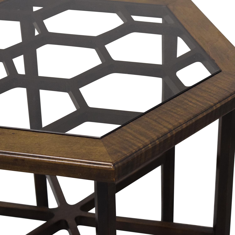 John Widdicomb Co. John Widdicomb Hexagonal Side Table second hand
