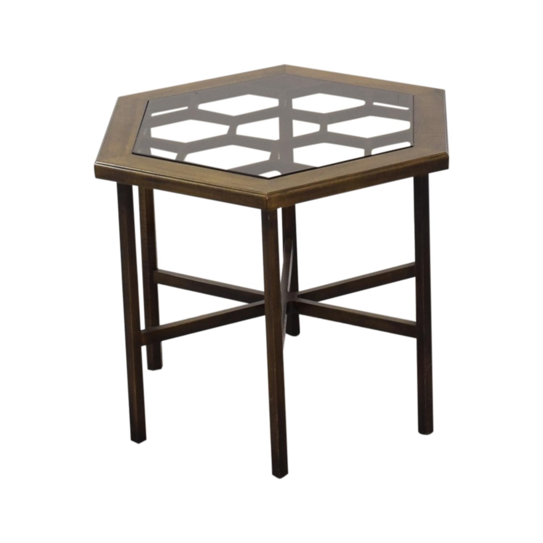 John Widdicomb Hexagonal Side Table sale