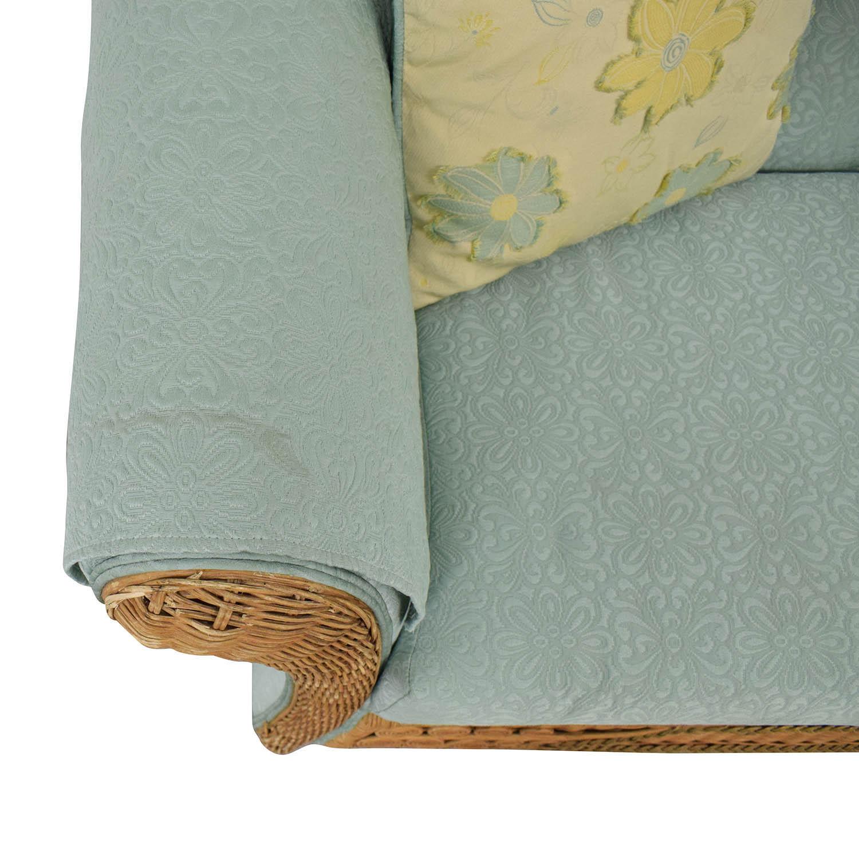 buy Wicker Upholstered Settee Loveseat Henredon Furniture