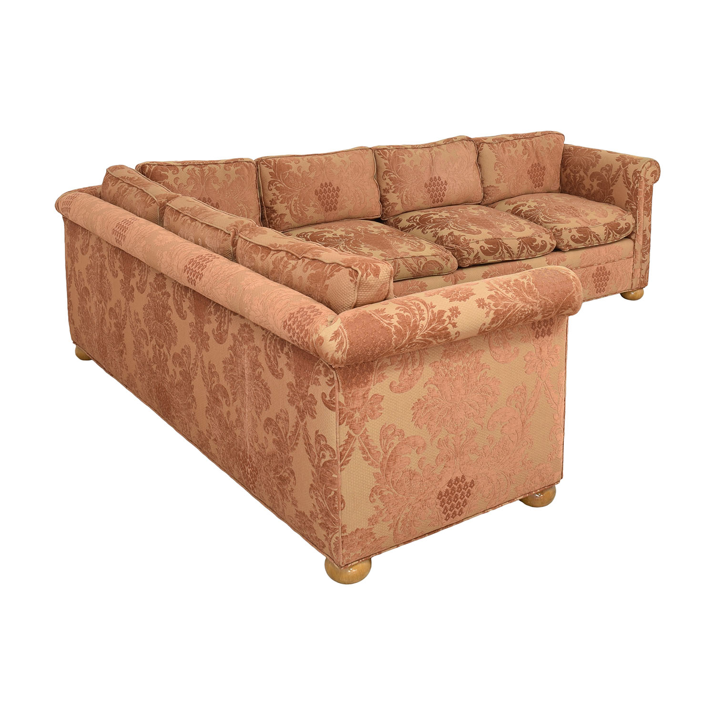 shop Custom Brocade Sectional Sofa  Sectionals