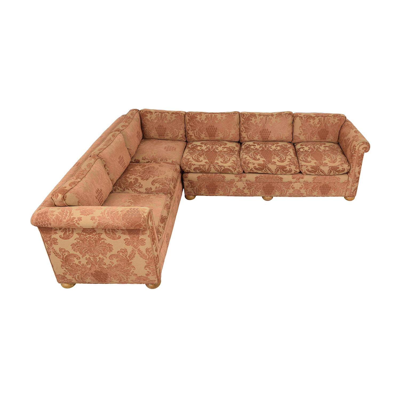 Custom Brocade Sectional Sofa