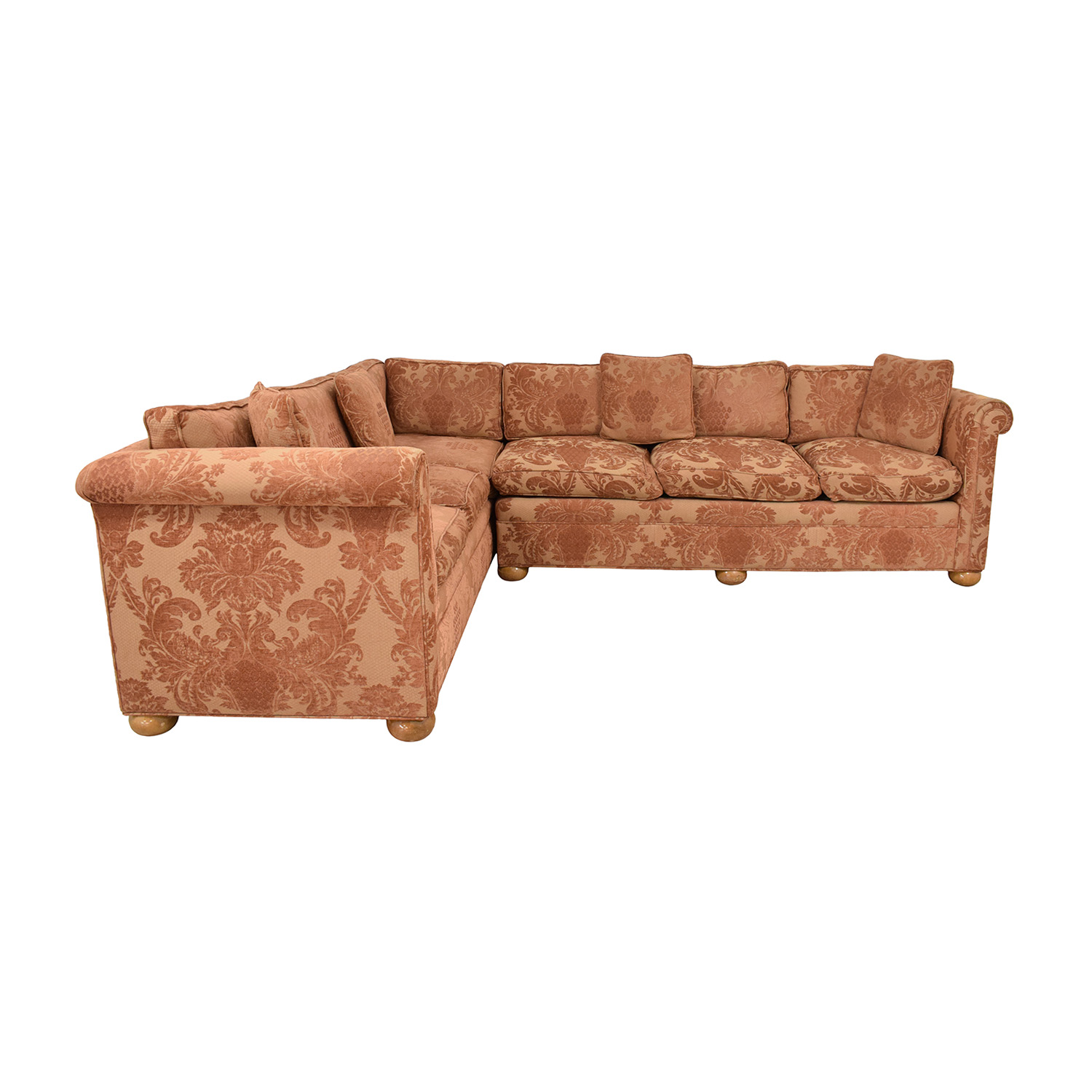 Custom Brocade Sectional Sofa sale