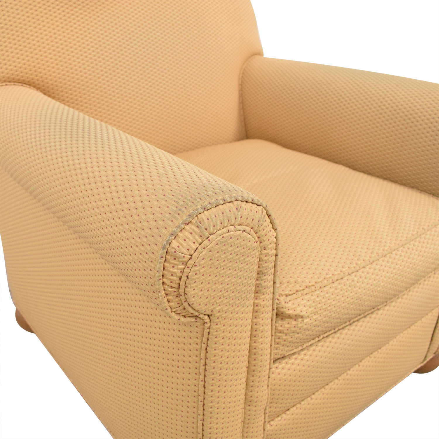 Round Arm Accent Chair used