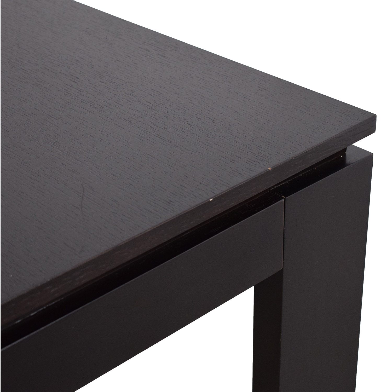 CB2 CB2 Wenge Expandable Dining Table black