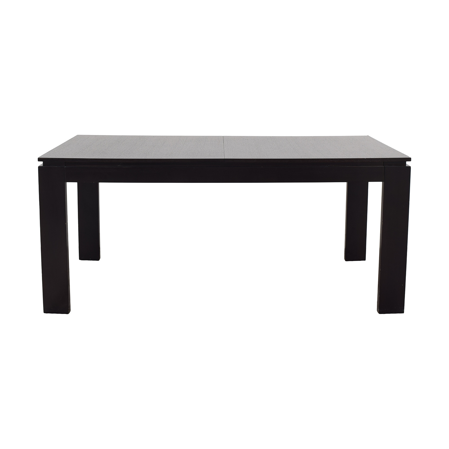 CB2 CB2 Wenge Expandable Dining Table dimensions