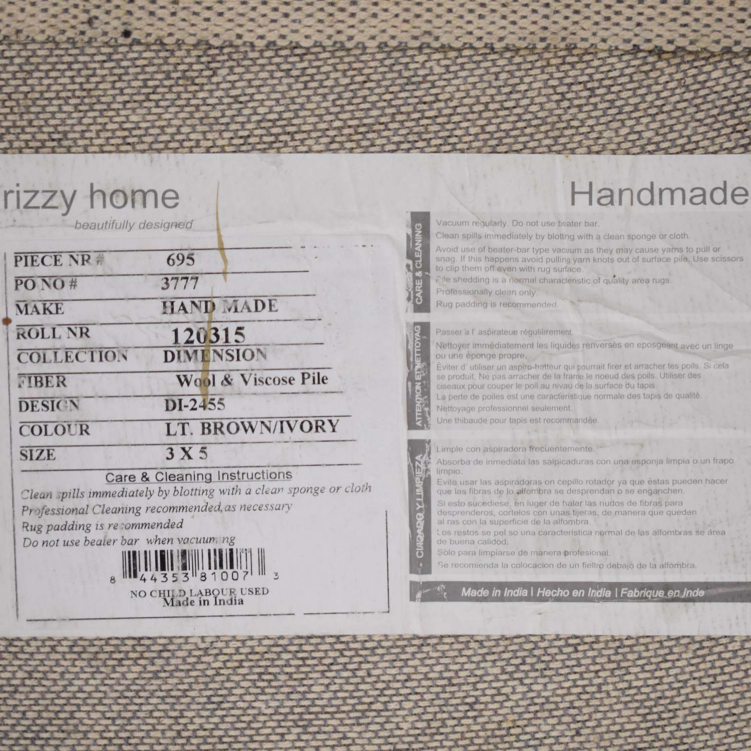 shop Wayfair Rizzy Home Rug Wayfair