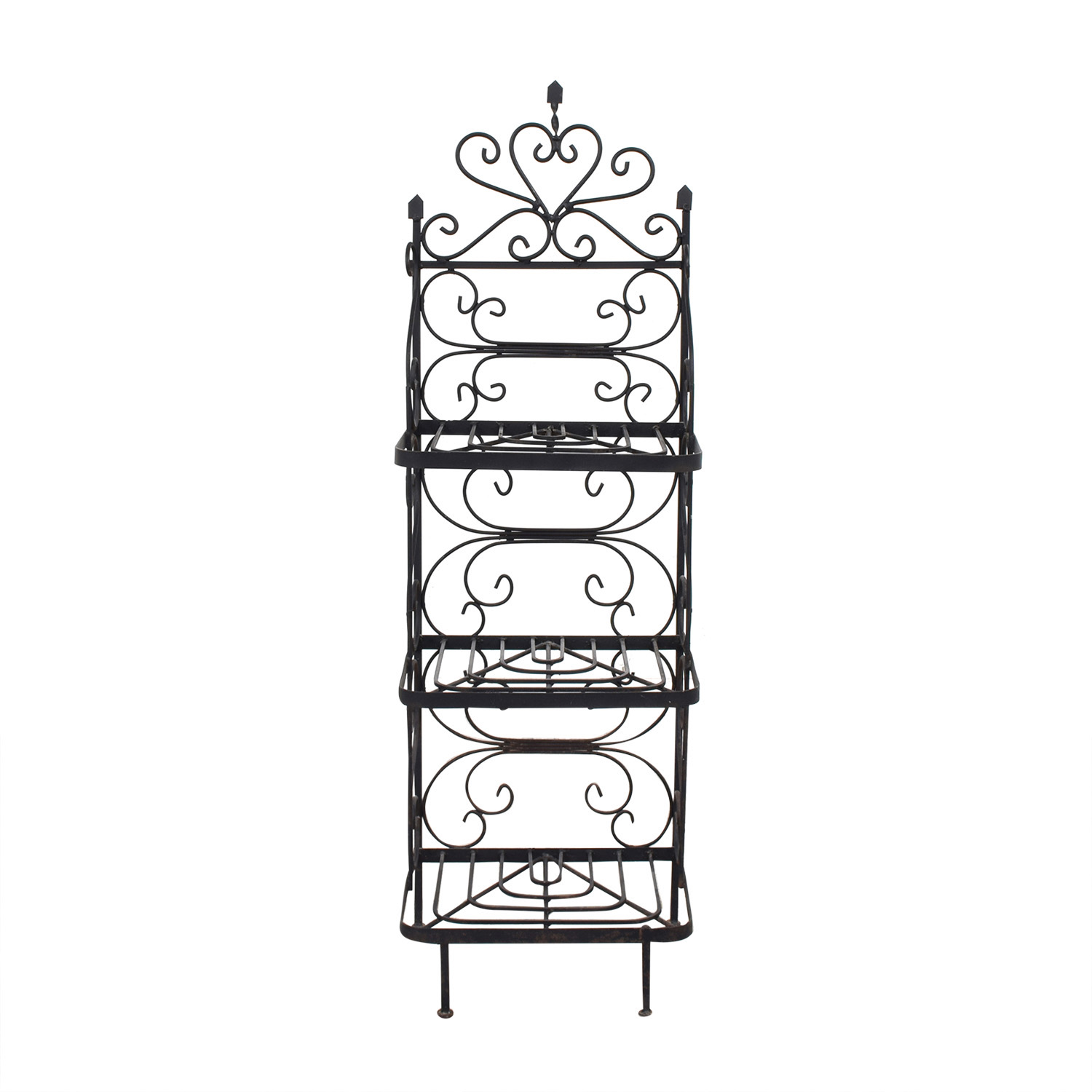 Vintage Bakers Rack black