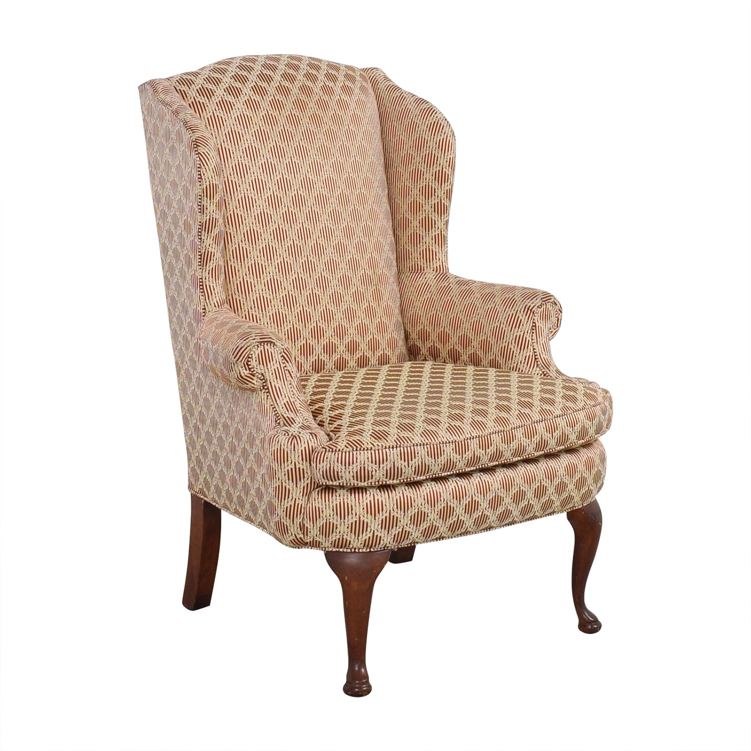 Plunkett Furniture Plunkett Upholstered Wingback Chair pa
