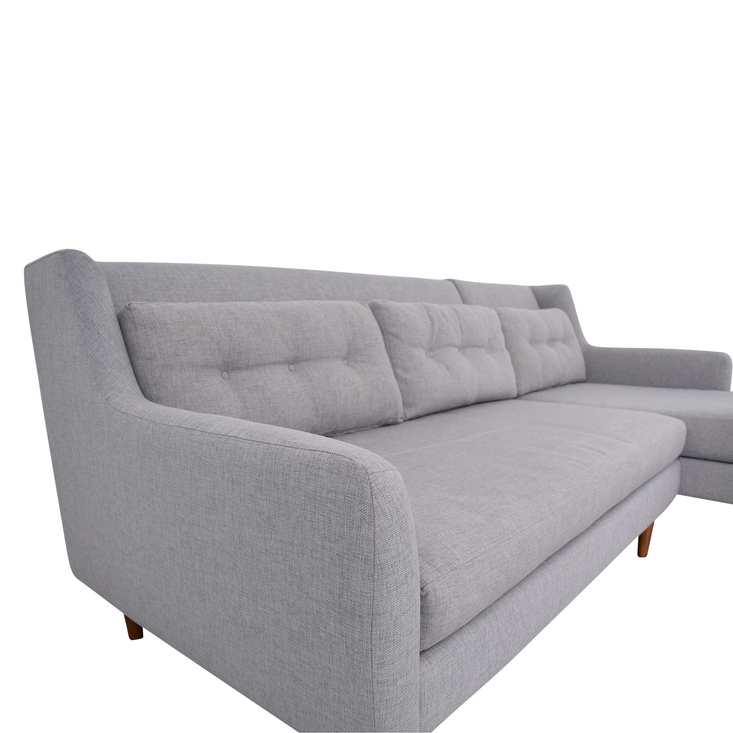 buy West Elm Crosby 2-Piece Mid-Century Sectional West Elm