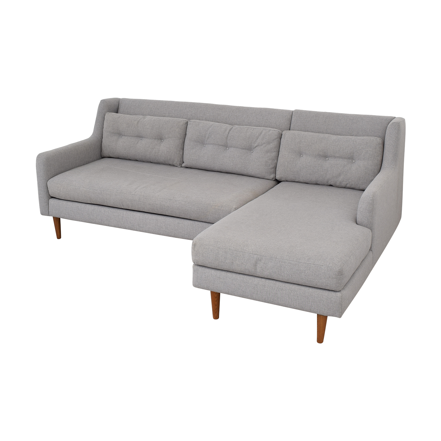 West Elm Crosby 2-Piece Mid-Century Sectional West Elm