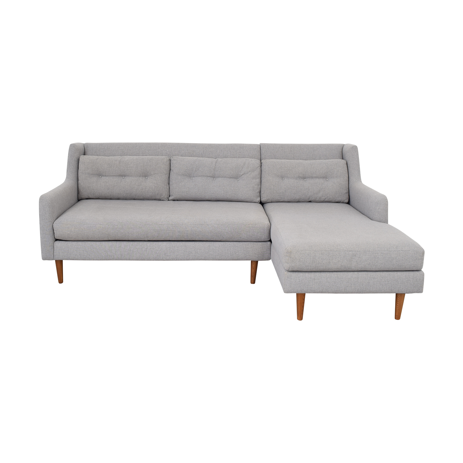 West Elm West Elm Crosby 2-Piece Mid-Century Sectional nj