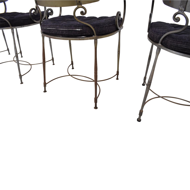 Bloomingdale's Bloomingdale's Four Metal Dining Chairs pa