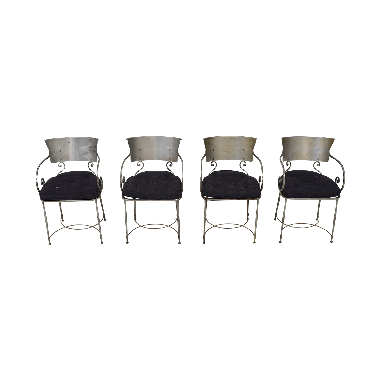 Bloomingdale's Bloomingdale's Four Metal Dining Chairs Chairs
