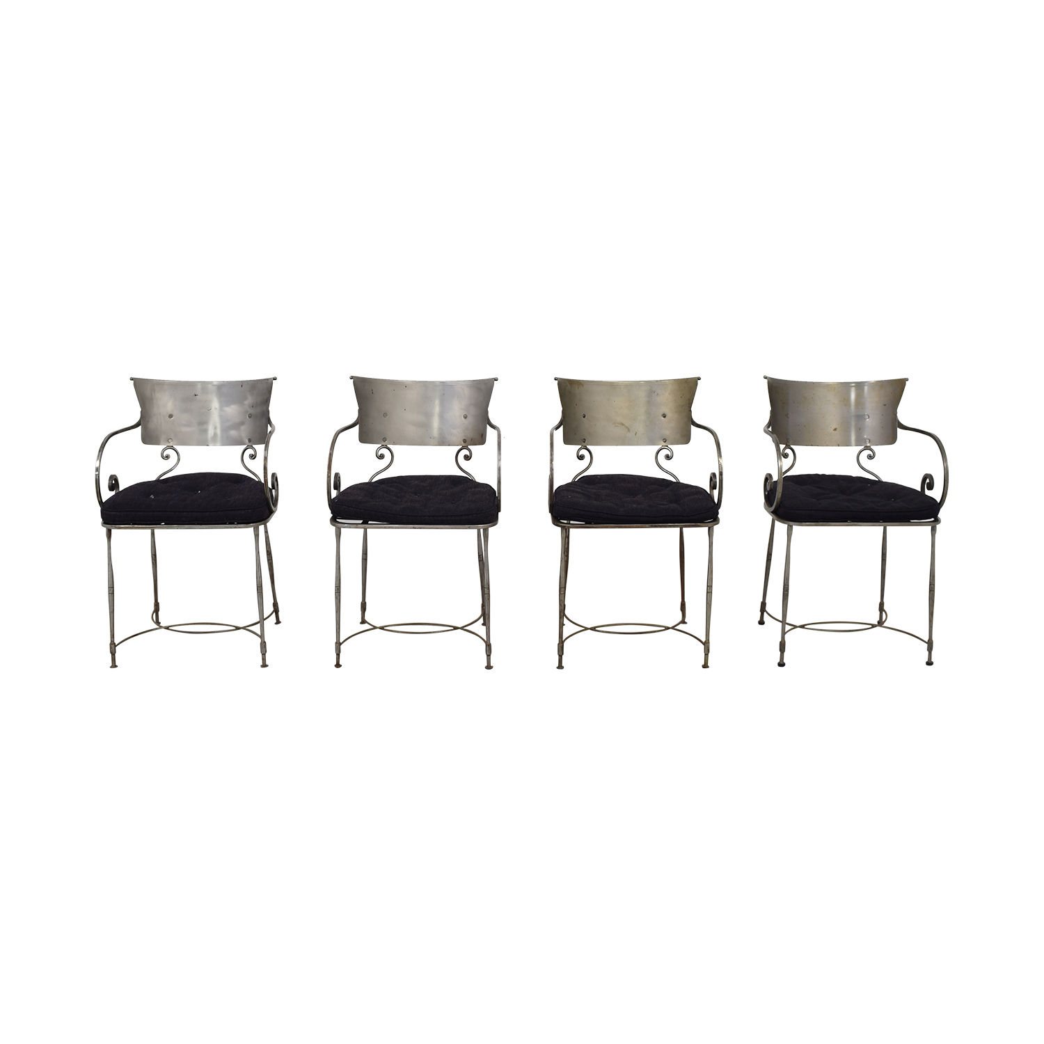 Bloomingdale's Bloomingdale's Four Metal Dining Chairs second hand