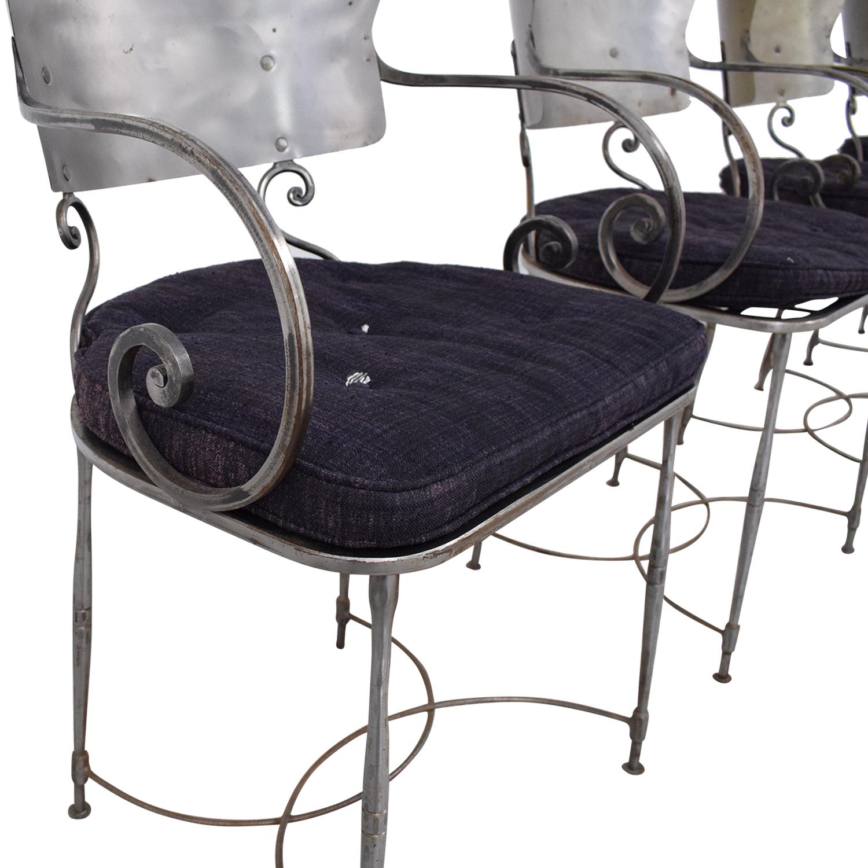 Bloomingdale's Bloomingdale's Four Metal Dining Chairs price