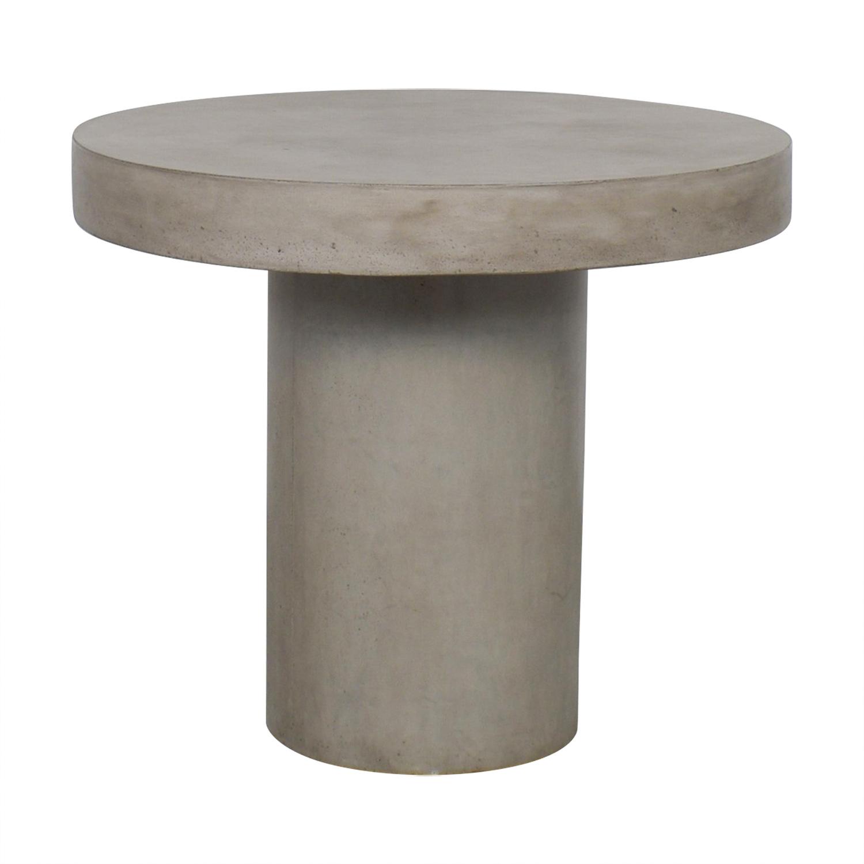 CB2 Fuze Concrete Bistro Table sale