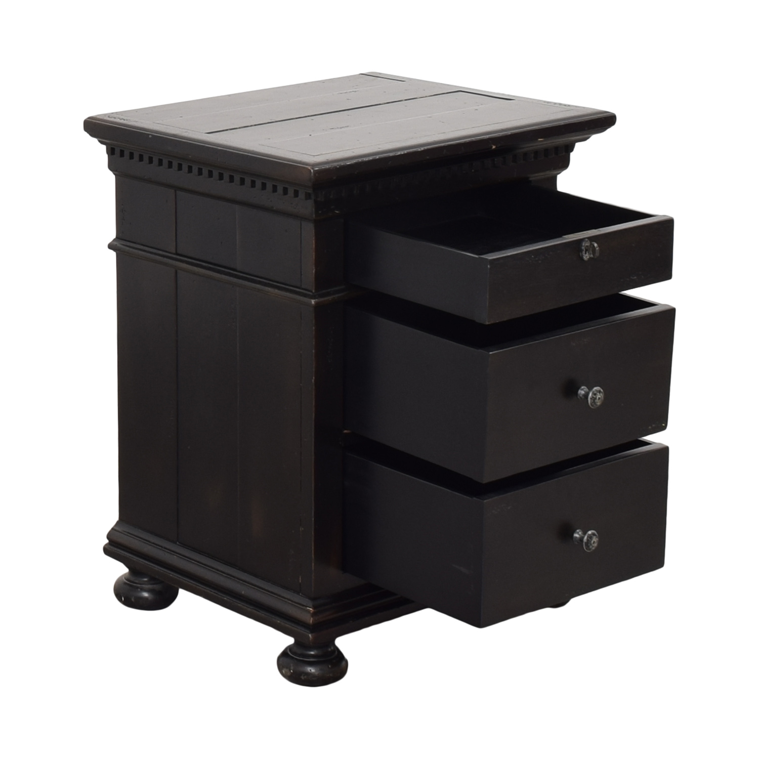 buy Restoration Hardware St. James Closed Nightstand Restoration Hardware Tables